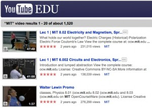 MIT on YouTube EDU